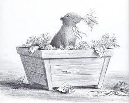 """These Plants Are Tasty""  Drawing by Bill Peet"